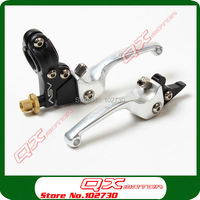 Silver ASV Clutch And Brake Folding Lever For CRF50 CRF70 Ttr110 KLX110 Style Dirt Bike Pit