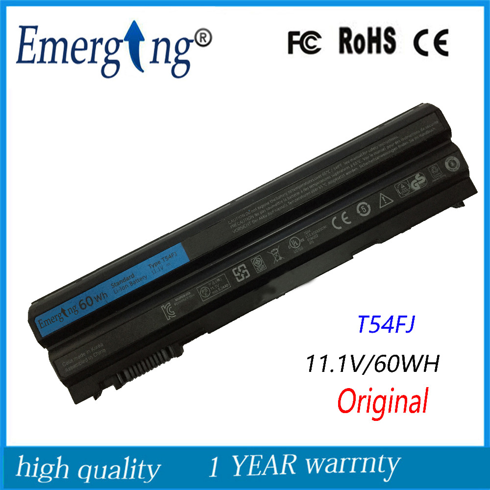 60WH Original New Korea Cell Laptop Battery for Dell  Latitude E6420 E6430 E6520 E6530 E5420 E5430 E5520 E5530 N3X1D T54FJ 11 1v 97wh korea cell new m5y0x laptop battery for dell latitude e6420 e6520 e5420 e5520 e6430 71r31 nhxvw t54fj 9cell