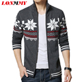 LONMMY Christmas sweater cardigans Casual coat Stand collar Sweater men Thick Knitted cardigan men Imported-clothing 2016 New