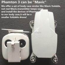 PRE-VENTE Ensemble Complet De Drone Corps Cas pour DJI Phantom3 Changé à Être Un Nouveau Design Drone Similaire à DJI Mavic Pliable