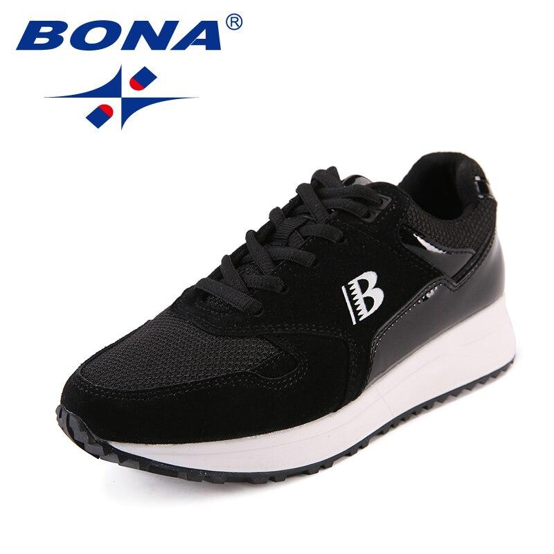 BONA nouveauté classiques Style femmes chaussures de marche Design à la mode femmes baskets de plein air chaussures dentelle femmes chaussures de sport