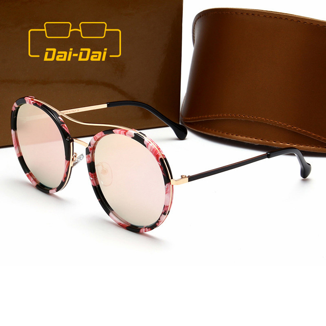 47f0d1a9dd162 Driving Luxury Women Plain Oval Lens Oculos de sol UV 400 Superstar  Printing Double Beam Frames Masculino Sunglasses DAI-DAI 1+
