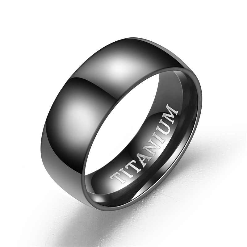 גברים של שחור נירוסטה טבעת מט סיים קלאסי אירוסין עבור זכר חתונה להקות תכשיטים Dropshipping
