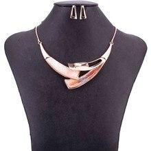 MS1505039 conjuntos de joyería de calidad, collar de Gargantilla sin plomo ni níquel, conjunto de collar y pendientes chapados en oro rosa para mujer