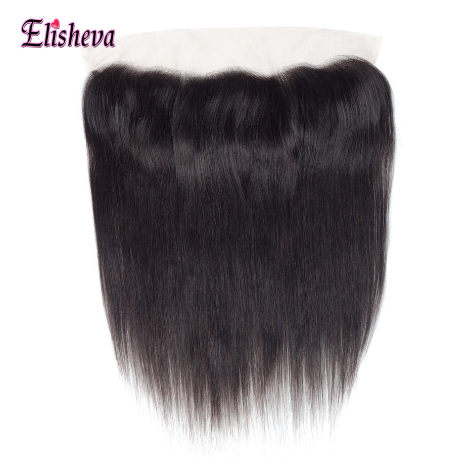 Elisheva Ear to Ear Lace Frontal 13x4 Pre Plucked Brazillian Hair Straight Lace Frontal Closures NonRemy