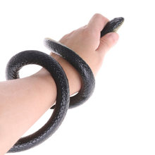 130cm Tricky Toy Realistic Fake Snakes Rubber Garden Props Joke Prank Horror Snake Spoof Toy Gift -17 S7JN(China)