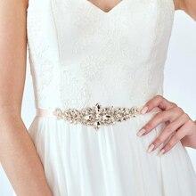Bridal gown belt, wedding gown Sash, luxury diamond belt, Bride 's Sash, Ivory Blush wedding belts & sashes, Rhinestone Belt