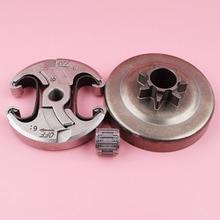 Embrague con Kit de cojinete de aguja para piezas de repuesto de motosierra Husqvarna 340 345 346XP 350 353 445 455 460, 450 E