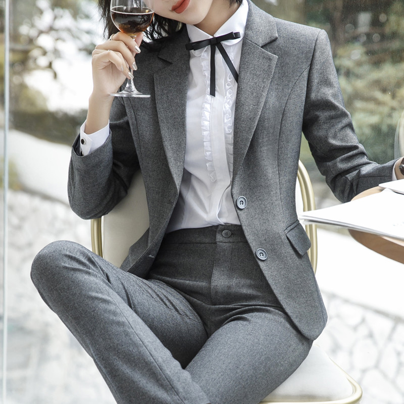 Femme skirt Pantalons Blazer pants 2019 Lady Veste Blazer Costumes De D'affaires Décontractés Blazer Mode Pantalon Noir Pants Ensemble Taille Grande Travail Femmes Vêtements Office ZwwE7gq
