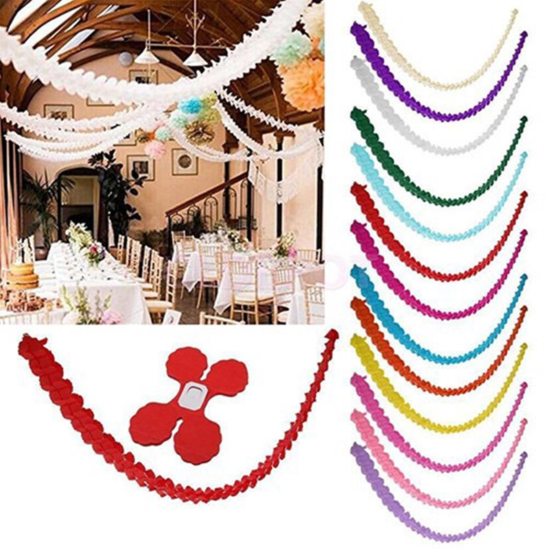 3.6M Four Leaf Clover Paper Garlands Party Wedding Home Decoration Beautiful Wedding Baby Shower Birthday Party Festivals