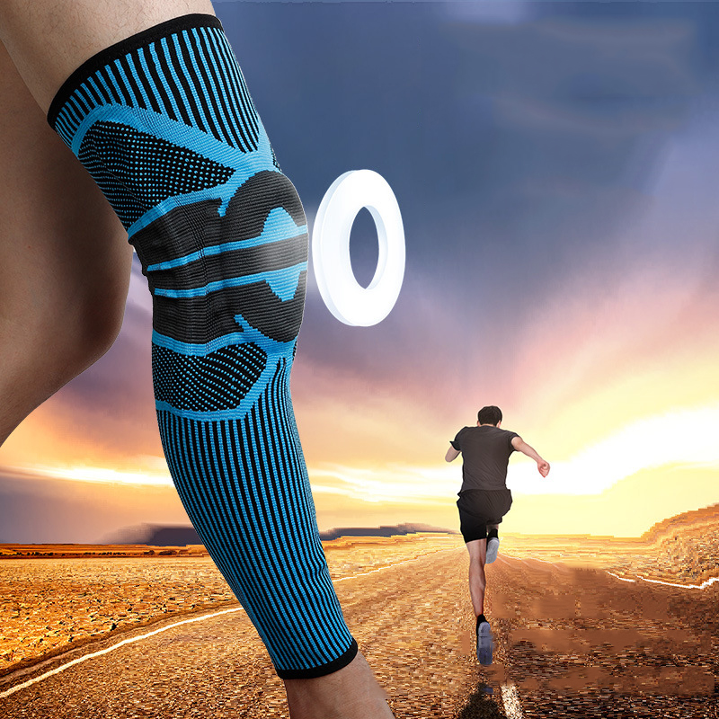 Long Basketball Knee Pads Running Leg Sleeve Calf Knee Brace Support Protector Spring Support Sport Kneepad Football Shin Guard