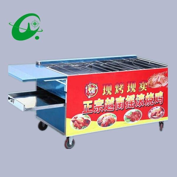 где купить GAS Vietnamese chicken oven roast chicken box,BBQ roasted poultry oven , Grilled swing chicken furnace car 430stainless steel по лучшей цене