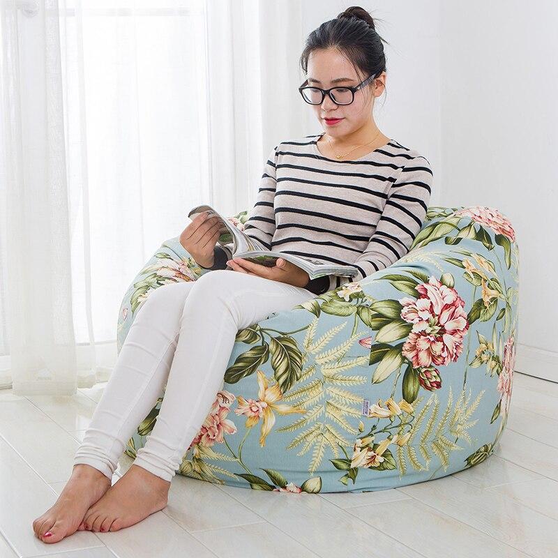 ФОТО Bean Bag Fabric Modern Living Room Chairs