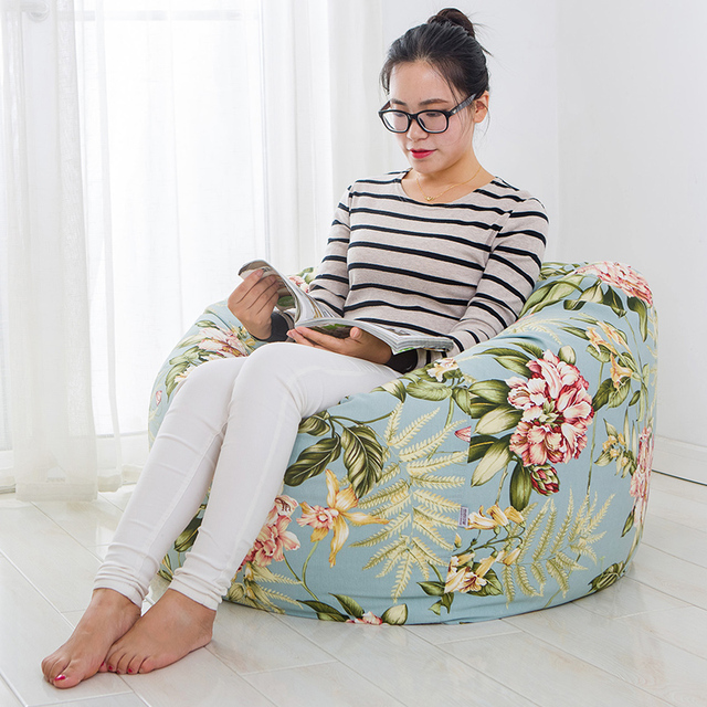 Cadeiras do Saco de feijão Tecido Moderna Sala de estar