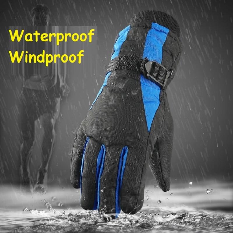 Men's Gloves Winter Ski Gloves Men Warm Women Andmen Outdoors Riding Glove Thickening And Velvet Waterproof Cold Proof Windbreak Gloves High Quality Goods