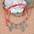 Feng Shui tradicional Chinese Zodiac Bead Jóias Amuleto Da Sorte Pulseira Corda Vermelha