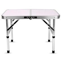 Алюминиевый складной походный стол ноутбук кровать стол регулируемые наружные столы барбекю Портативный Легкий Простой дождь-доказательство GG