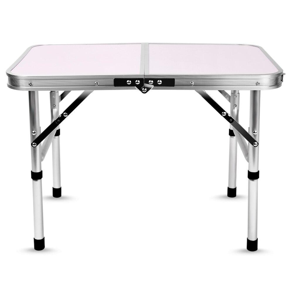 Aluminum Folding Camping <font><b>Table</b></font> Laptop Bed Desk Adjustable Outdoor <font><b>Tables</b></font> BBQ Portable Lightweight Simple Rain-proof