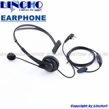 professional noise cancelling walkie talkie microphone earphone headset, two way radio headphone universal K-Type