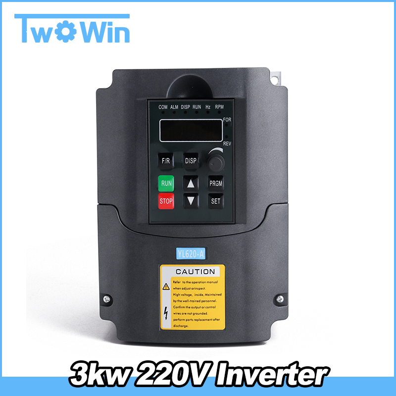 Neu 3KW 220V 4HP Inverter Frequenzumrichter Variable Frequency Driver CNC