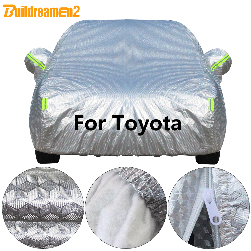цена Buildremen2 Cotton Car Cover Waterproof Sun Rain Snow Resistant Cover For Toyota Land Cruiser Corolla Camry RAV4 Highlander