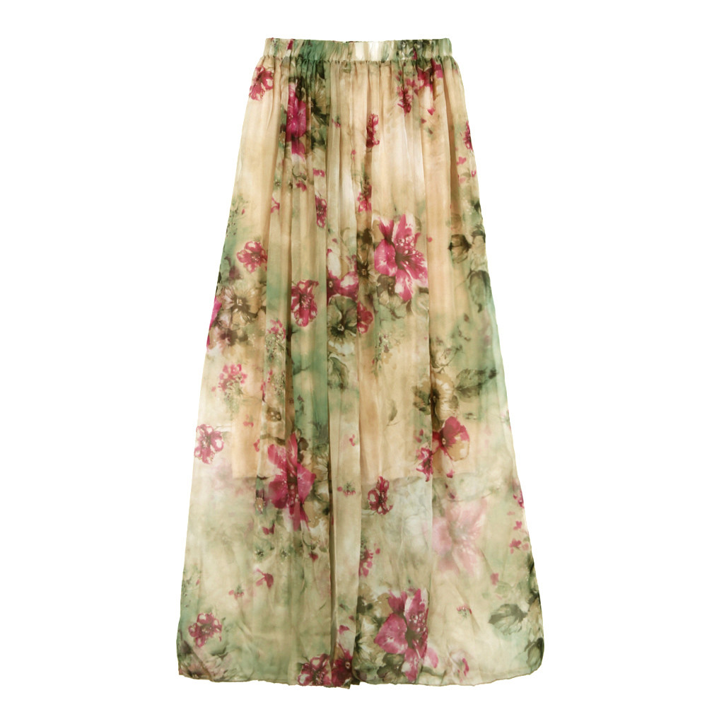 Popular Long Floral Print Skirt-Buy Cheap Long Floral Print Skirt ...