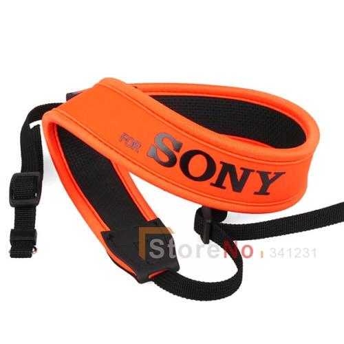 Orange Camera Neoprene Neck Shoulder Strap Belt For S a58 a550 a580 a560 a850 a900 a700 a300 dslr DSLR SLR Soft