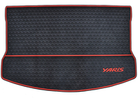 free ship tail aft padded waterproof rubber green latex wear resistant car trunk mats for Yaris