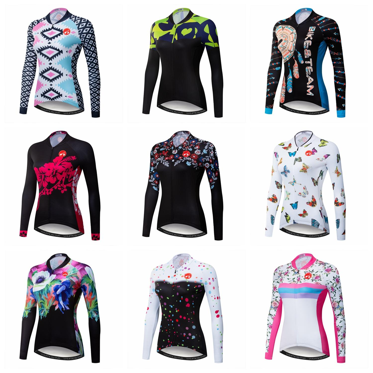 Women MTB Road Cycling Jersey Winter Long Sleeve Sport Bicycle Clothing Ropa Ciclismo Maillot Outdoor Bike Jersey Shirts Tops