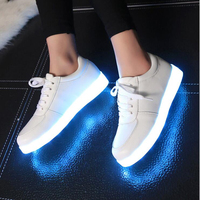 Size 27 45 Colourful Usb Charging Shoes Luminous Sneakers LED Slippers Light Up Girl Led Shoes Infant Glowing Sneakers