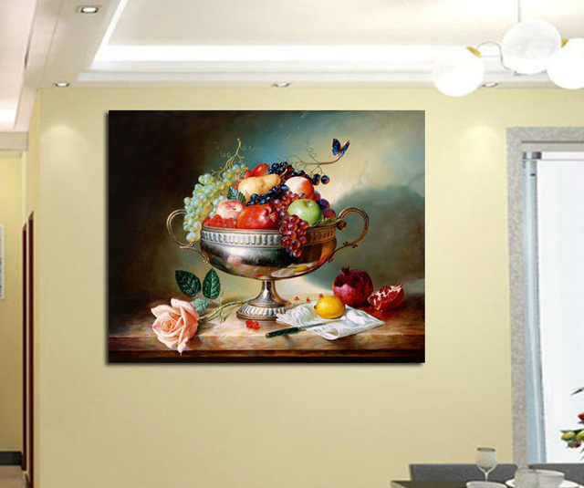 1 piece canva art HD Kitchen dining room decorations for home fruits on