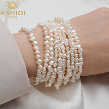 ASHIQI Multilayer Natural Freshwater Pearl Bracelet for women Gorgeous 10 Rows Fine Fashion 4-5mm Pearl Jewelry ashiqi natural freshwater baroque pearl layered necklace women 4 8mm 5 rows bohemia handmade jewelry fashion