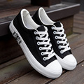Sapatos de Plataforma 2016 Sapatas de Lona Respirável dos homens Venda quente Dos Homens Casual Bandeira Branca Formadores Sapato Zapatos Hombre