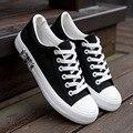 Venta caliente de Los Hombres Zapatos de Plataforma 2016 Zapatos de Lona Transpirable Hombres Casuales Bandera Blanco Entrenadores zapatillas de Zapatos Hombre