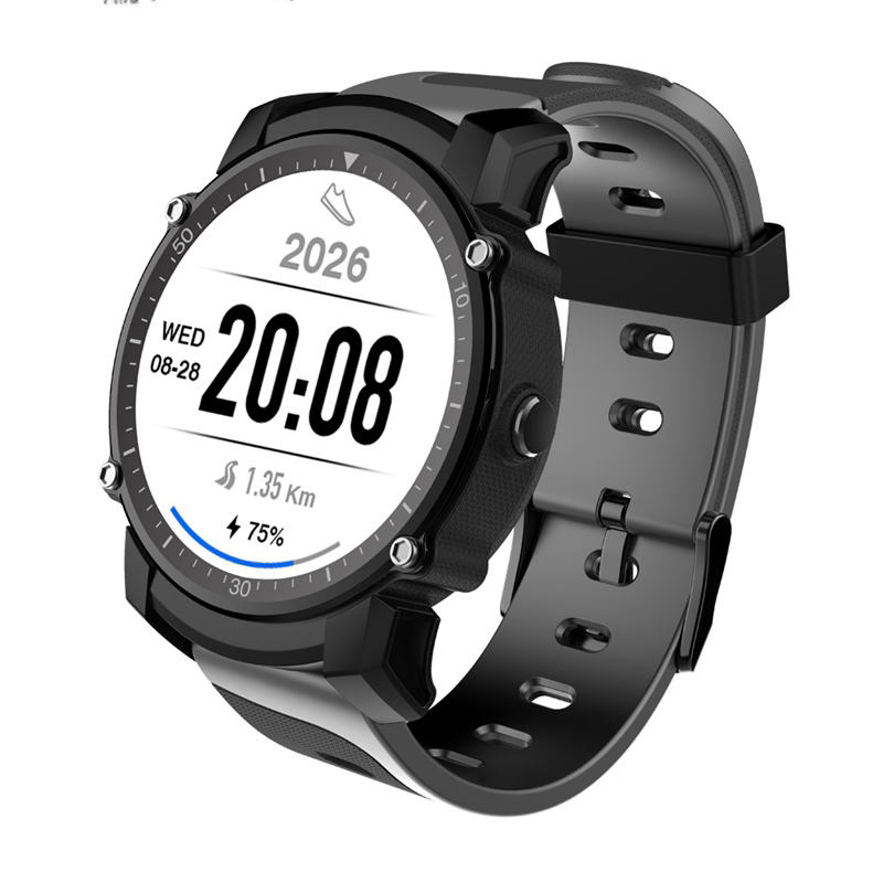 FS08 Smart Watch Transflective TFT Screen 1.26inch GPS Heart Rate Monitor Pedometer Compas Smartwatch For Android iOS smart sm83 08