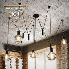 110-240 v E27 * 5 LOFT vintage stijl zwarte industriële Hanglampen lampade lustres verlichting lamparas de techo vint