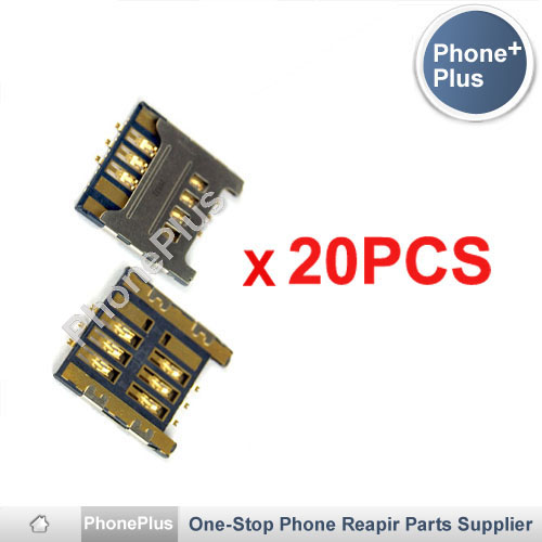 20PCS Sim Card Reader Module Slot Tray Holder Socket Replacement Part For Samsung I9000 I9008 Galaxy S High Quality