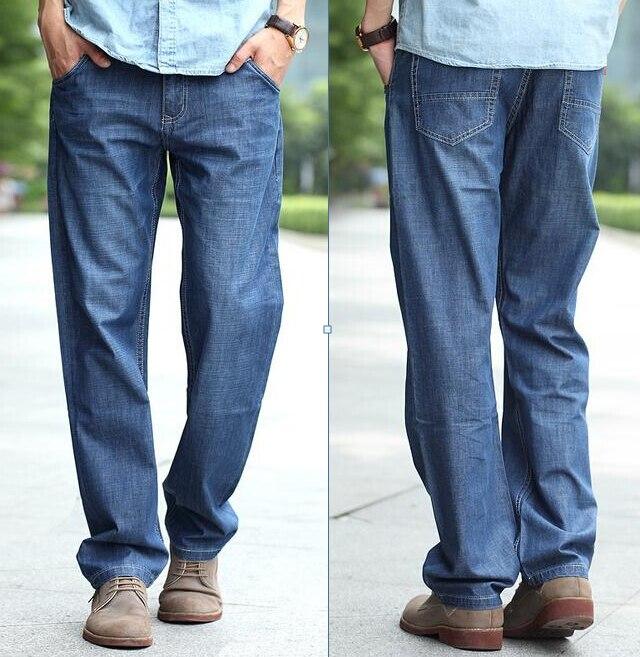 ФОТО New Fashion plus size jeans men's trousers skateboard men jeans hiphop clothes Bottoms long pants 27-44 46 48