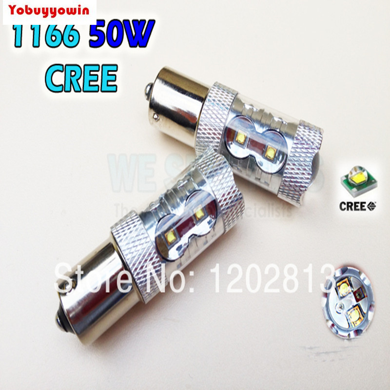 Free Shipping Free Shipping 2pcs/lot 1156 BA15S 50W High Power Led cree Chips Vehicles Car Turn Signal Tail Brake Lights Bulbs