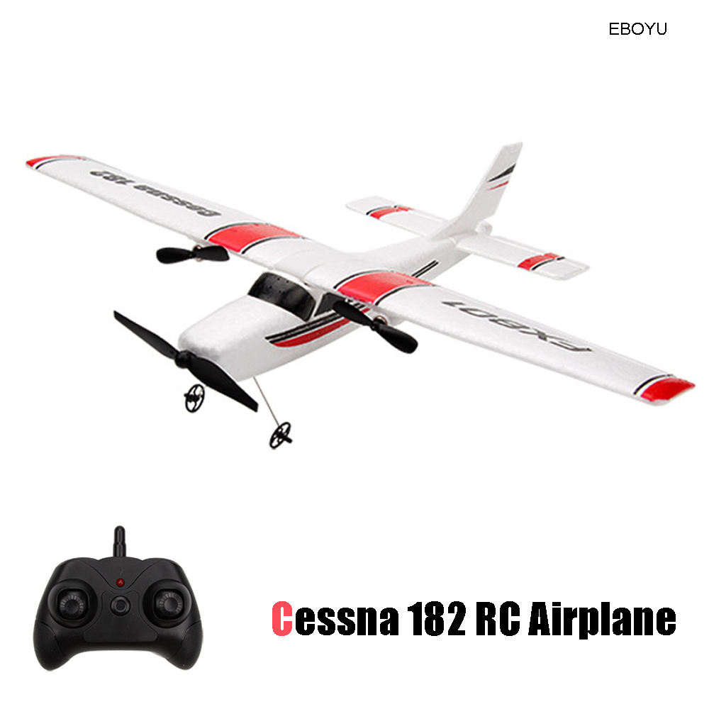 EBOYU FX801 <font><b>RC</b></font> Airplane Remote Control <font><b>Plane</b></font> <font><b>Cessna</b></font> <font><b>182</b></font> 2.4G 2CH <font><b>RC</b></font> Fixed Wing <font><b>Plane</b></font>/Electric flying Aircraft <font><b>RC</b></font> Drone image