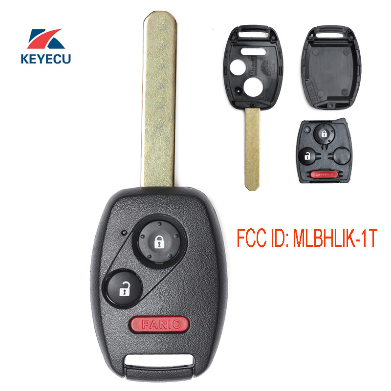 2 Replacement For 2010 2011 Honda Accord Crosstour Key Fob Remote