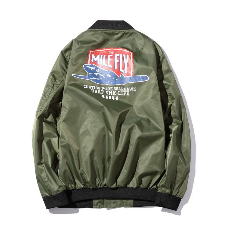 Aolamegs Men Bomber Jacket US Force MA1 Flying Jackets Military Style Baseball Uniform Army Green Black Navy Plus Size 4XL 5XL (5)