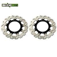 BIKINGBOY Front Brake Discs Rotors Disks For Yamaha YZF R6 03 04 FZ6 600 Fazer S2