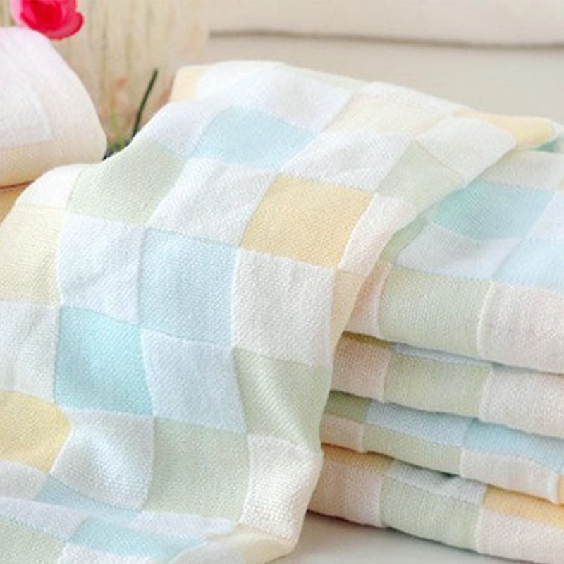 2018 New Lovely Colorful Plaid Print Microfiber Absorbent Drying Beach Bath Towel Baby Swimwear Towels M8