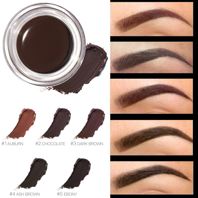 FOCALLURE Eyebrow Gel professional Eye Brow Tint Makeup Tool Long Lasting Waterproof 5 Color Black Brown Henna With Brow Brush