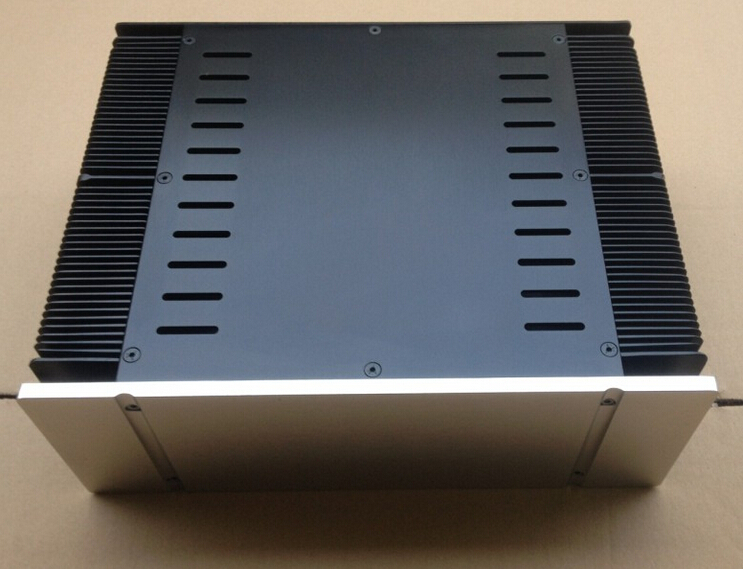 3312 Full aluminum Power amplifier chassis/Class A amplifier chassis/ External Heat Dissipation/AMP case Enclosure(Height 120mm) 4308 rounded chassis full aluminum enclosure power amplifier box preamplifier chassis