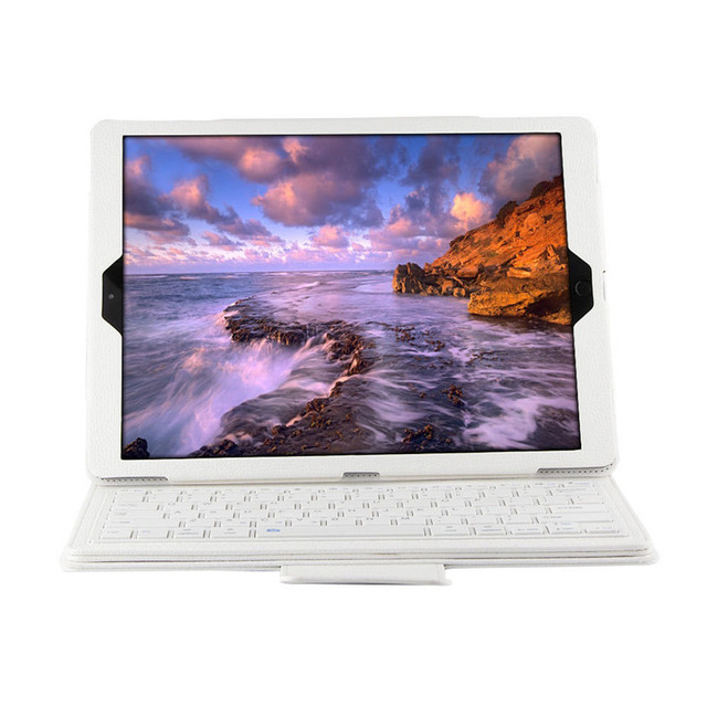 12.9 Inches Wireless Bluetooth Keyboard Case Imitation Leather Silicone Protective