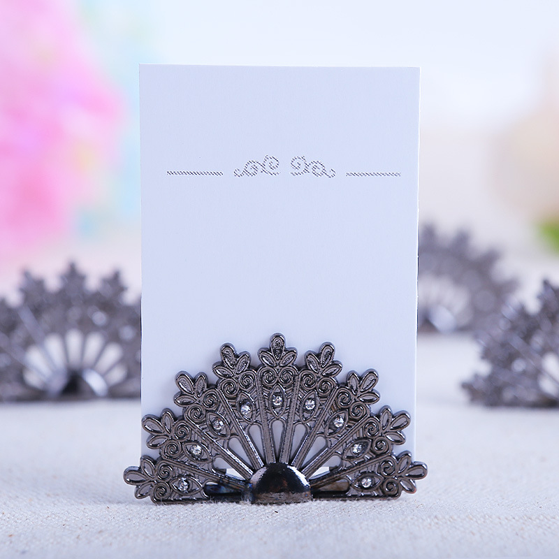 20pcslot 3cm45cm peacock seat cardtable cardvisiting card clip 20pcslot 3cm45cm peacock seat cardtable cardvisiting card clip wedding accessories metal fan seat clip free shipping in party diy decorations from home colourmoves
