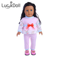 Luckdoll The bow tie suit fits the 18 inch American doll, the best holiday gift for a child.