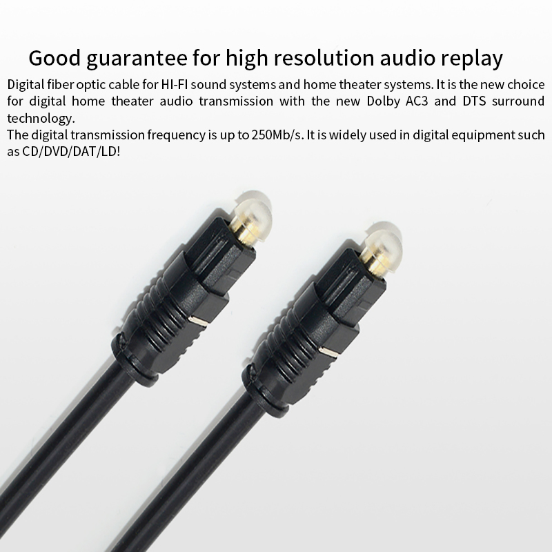 1.5 Meters Digital Optical Audio Cable 5.1 Channel Power Amplifier Audio Fiber Optic Cable SPDIF Digital Output Cable